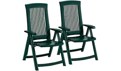 BEST Gartenstuhl »Kansas«, (2er Set), Kunststoff, verstellbar, grün kaufen