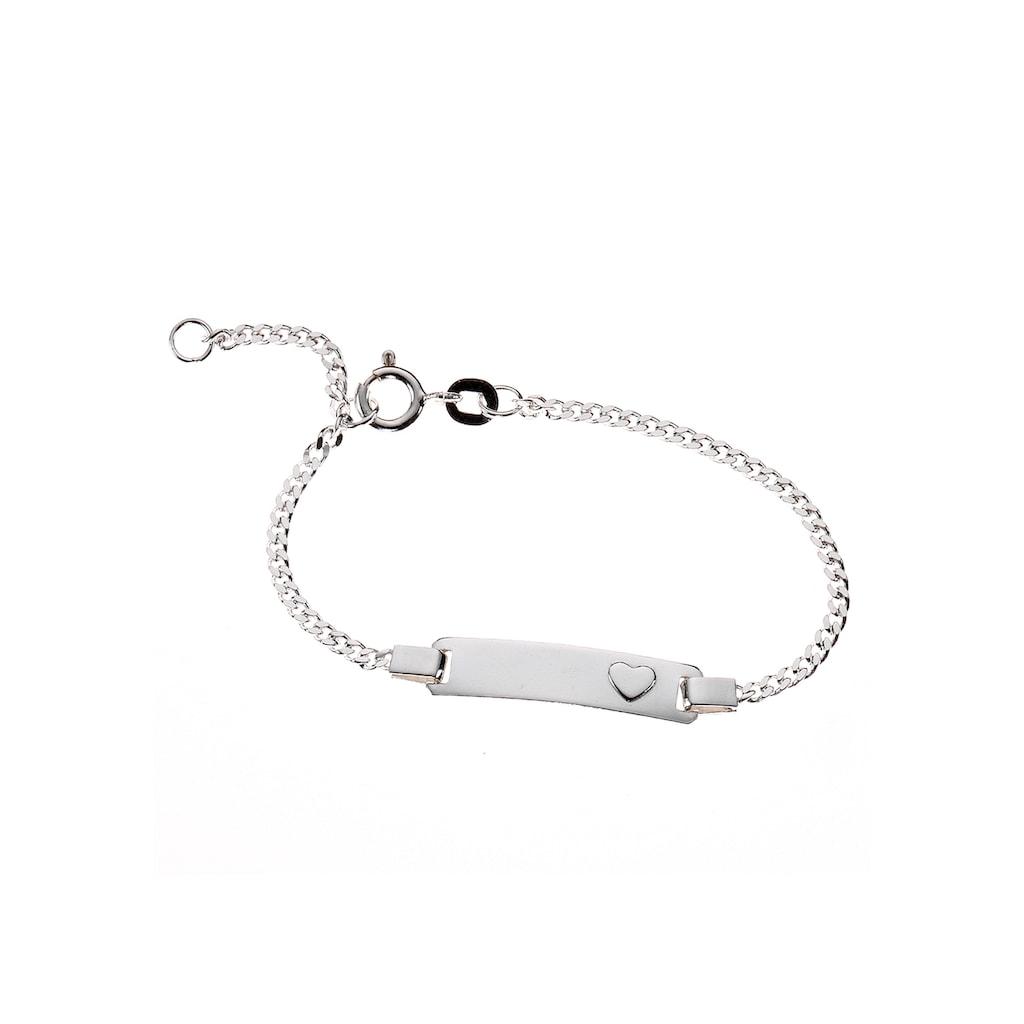 Firetti Silberarmband »ID-Armband mit Gravur und kleinem Herz«