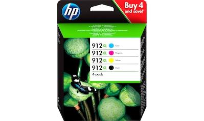 HP »hp 912XL Original Schwarz, Cyan, Magenta, Gelb« Tintenpatrone (4 - tlg.) kaufen