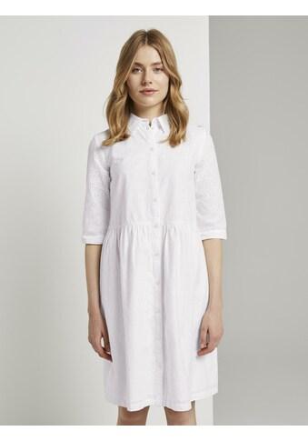 TOM TAILOR Blusenkleid »Blusenkleid mit Lochstickerei« kaufen