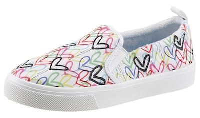 Skechers Slip-On Sneaker »POPPY-DRIPPIN LOVE«, mit Allover-Graffiti-Print kaufen