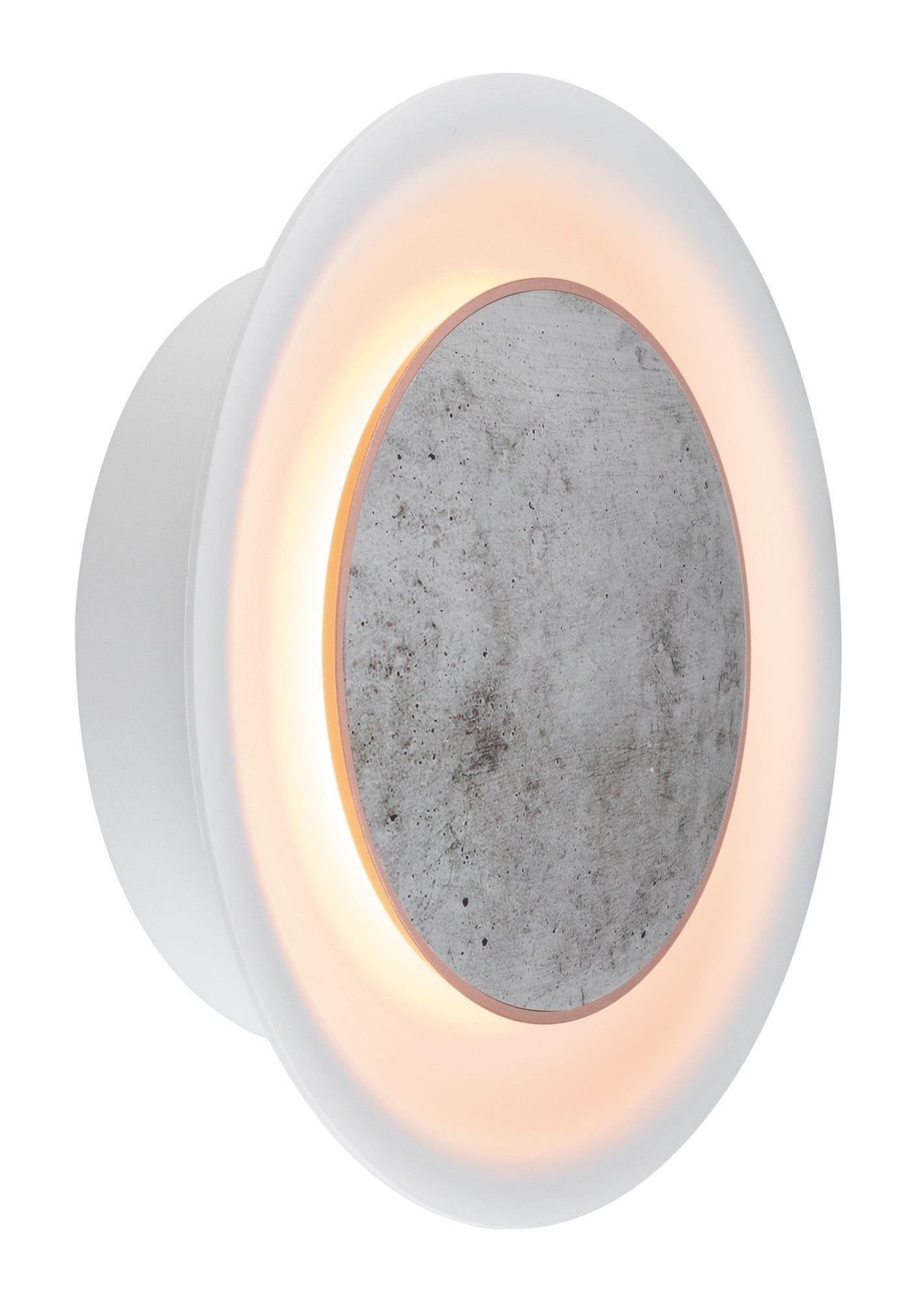 Paulmann LED Wandleuchte Neordic Wandleuchte Tiril 6,3W Betonoptik Weiß matt/Grau/Kupfer, 1 St., Warmweiß