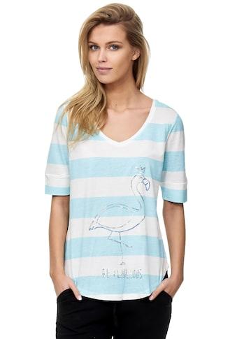 Decay T-Shirt, mit schimmerndem Flamingo-Aufdruck kaufen