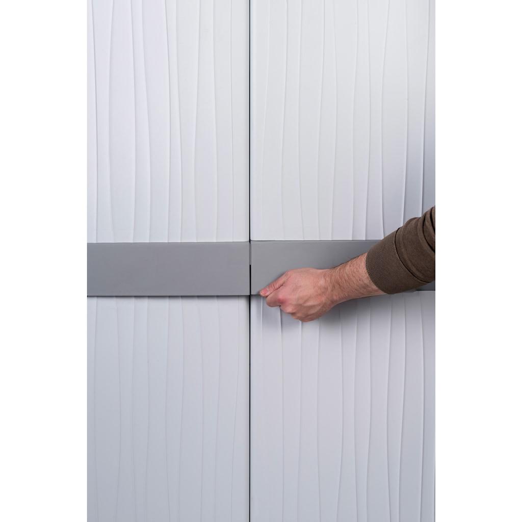 Kreher Spind »XL Jumbo«, B/T/H: 89,7x53,7x180 cm, abschließbar, mit Freifach und Riegel