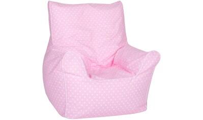 Knorrtoys® Sitzsack »Junior - Pink white dots«, für Kinder; Made in Europe kaufen