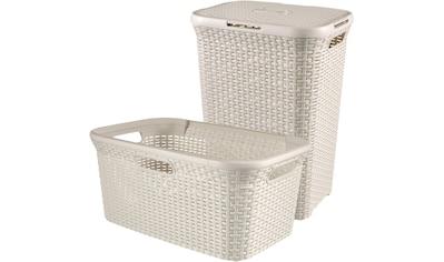 CURVER Wäschebox »STYLE Wäschebox+Wäschekorb«, 2´er - Set kaufen