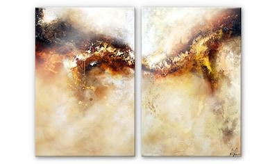 Wall-Art Mehrteilige Bilder »Metalle Gold Abstrakt (2-teilig)«, (Set, 3 St.) kaufen