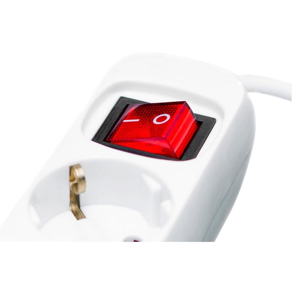 meister Steckdosenleiste, 3-fach, (Schalterbeleuchtung Kindersicherung-Schutzkontaktstecker Kabellänge 3 m)