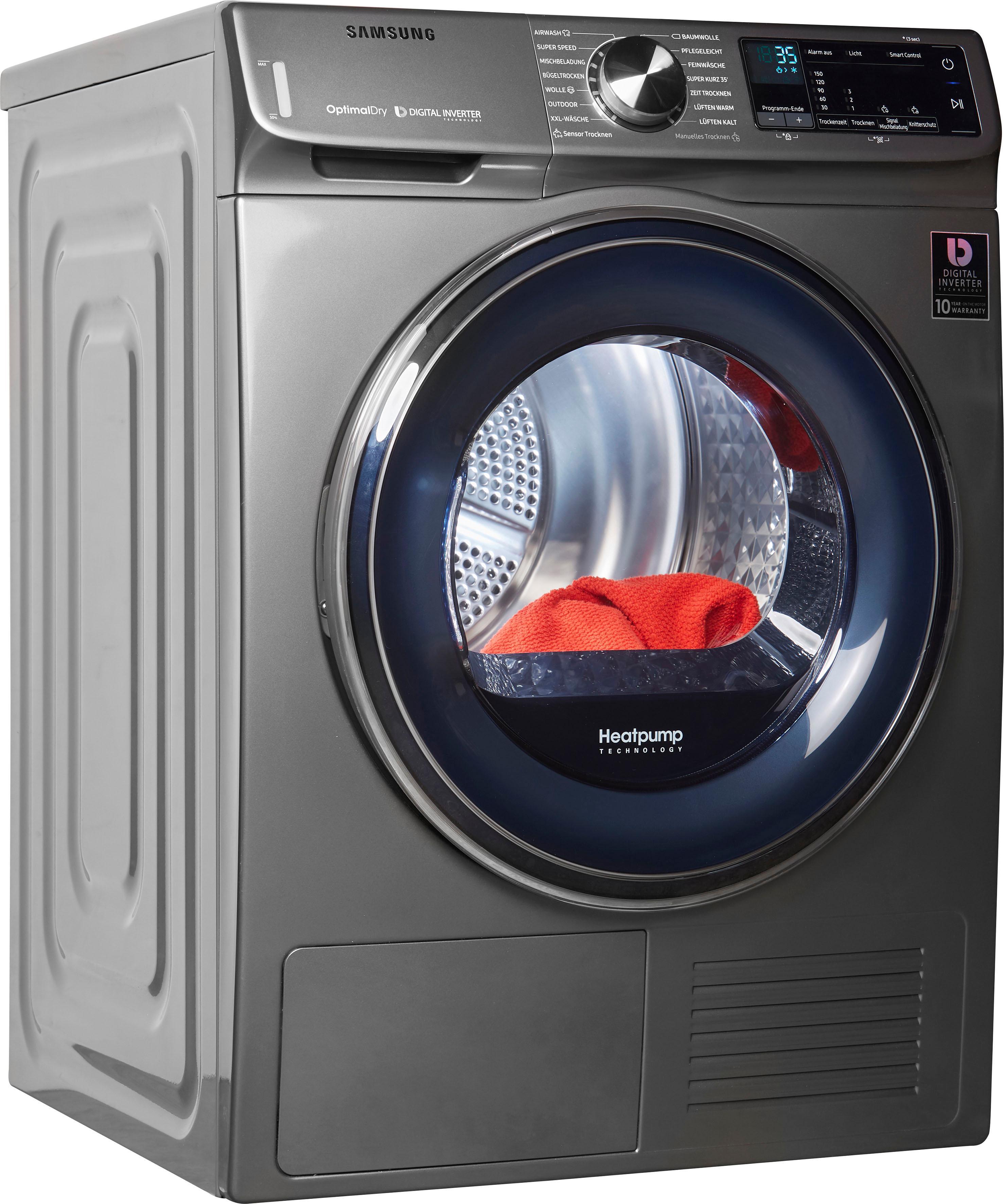 Samsung Wärmepumpentrockner DV6800 QuickDrive DV8AN62532X 8 kg | Bad > Waschmaschinen und Trockner | Samsung