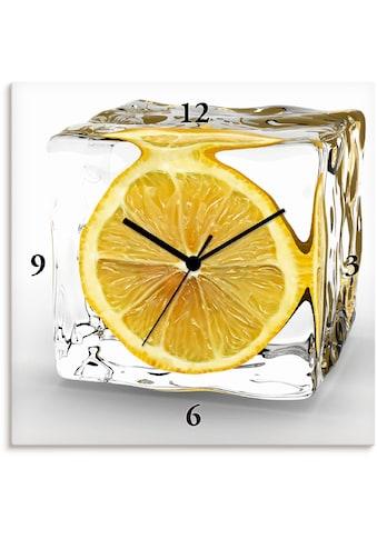 Artland Wanduhr »Zitrone im Eiswürfel«, lautlos, ohne Tickgeräusche, nicht tickend,... kaufen