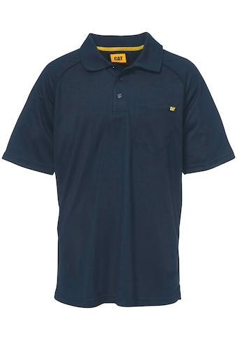 CATERPILLAR Poloshirt »RAGLAN«, blau kaufen