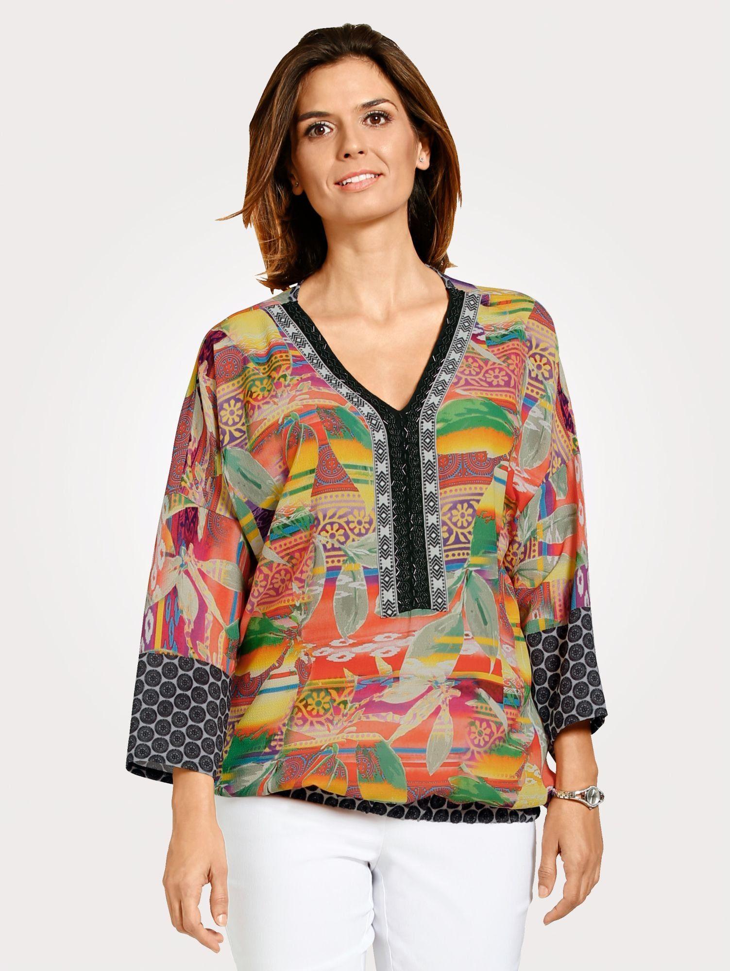 Mona Schlupfbluse mit farbenfrohem Dessin