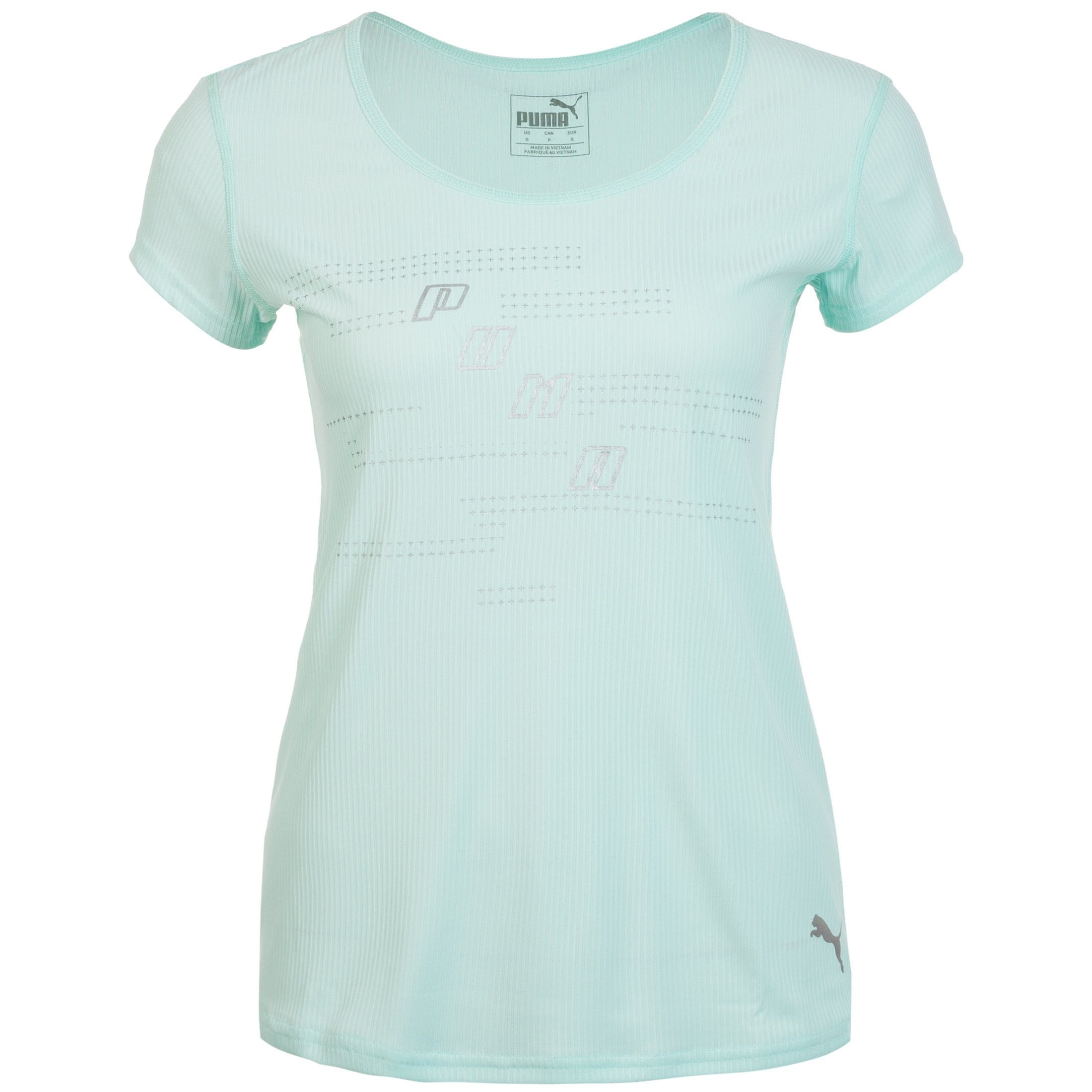 PUMA Laufshirt Ignite Logo   Sportbekleidung > Sportshirts > Laufshirts   Grün   Puma