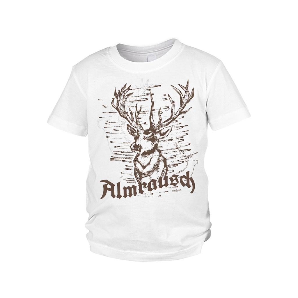 Der Trachtler Trachten T-Shirt mit witzigem Hirschmotiv