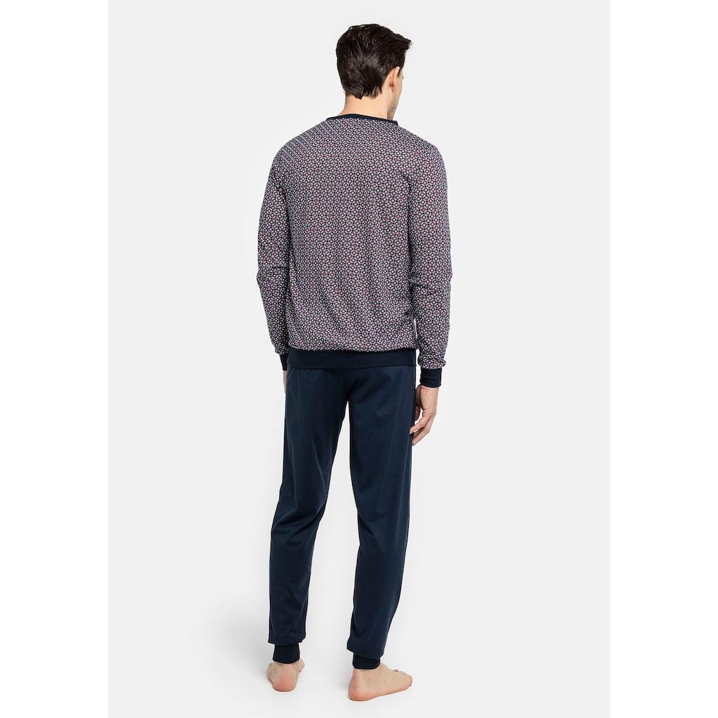 seidensticker Pyjama, mit Bündchen an Arm-, Saum- und Beinabschluss