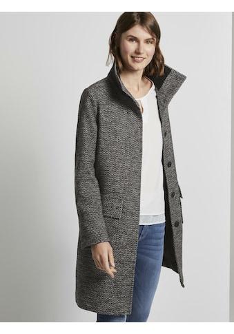 TOM TAILOR Langjacke »Mantel aus Tweed mit Stehkragen« kaufen