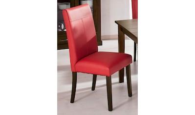 Home affaire 4-Fußstuhl »Rubin«, Im 2er, 4er oder 6er-Set, mit honnigfarbenen oder dunkelbraunen Beinen kaufen
