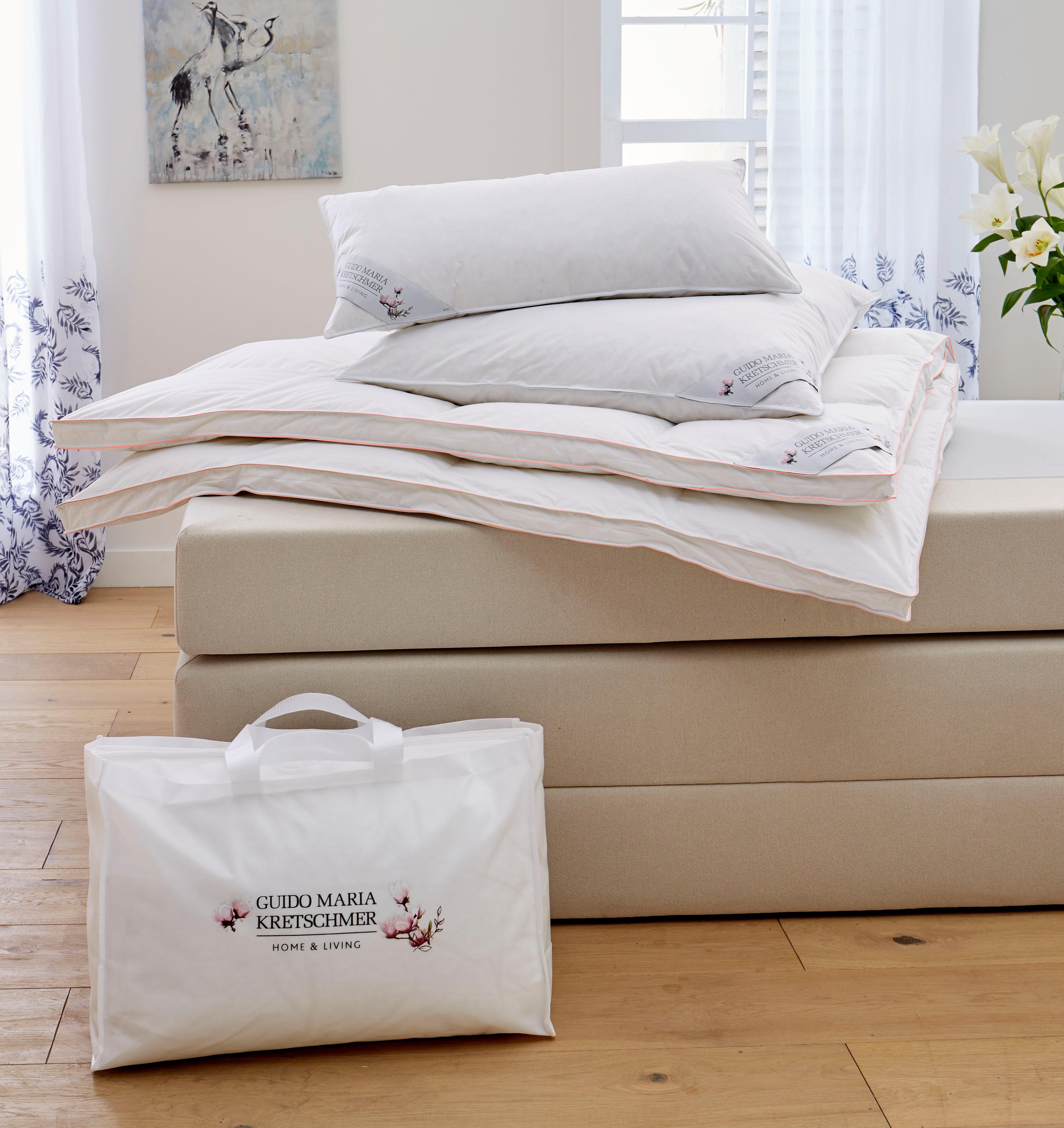 Bettdeckenset Magnolia GMK Home & Living Warm 100% Gänsedaunen