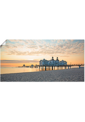 Artland Wandbild »Seebrücke Sellin bei Sonnenaufgang«, Strand, (1 St.), in vielen... kaufen