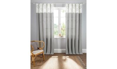 Home affaire Gardine »Louis«, halbtransparent, nachhaltig, einseitig bedruckt kaufen
