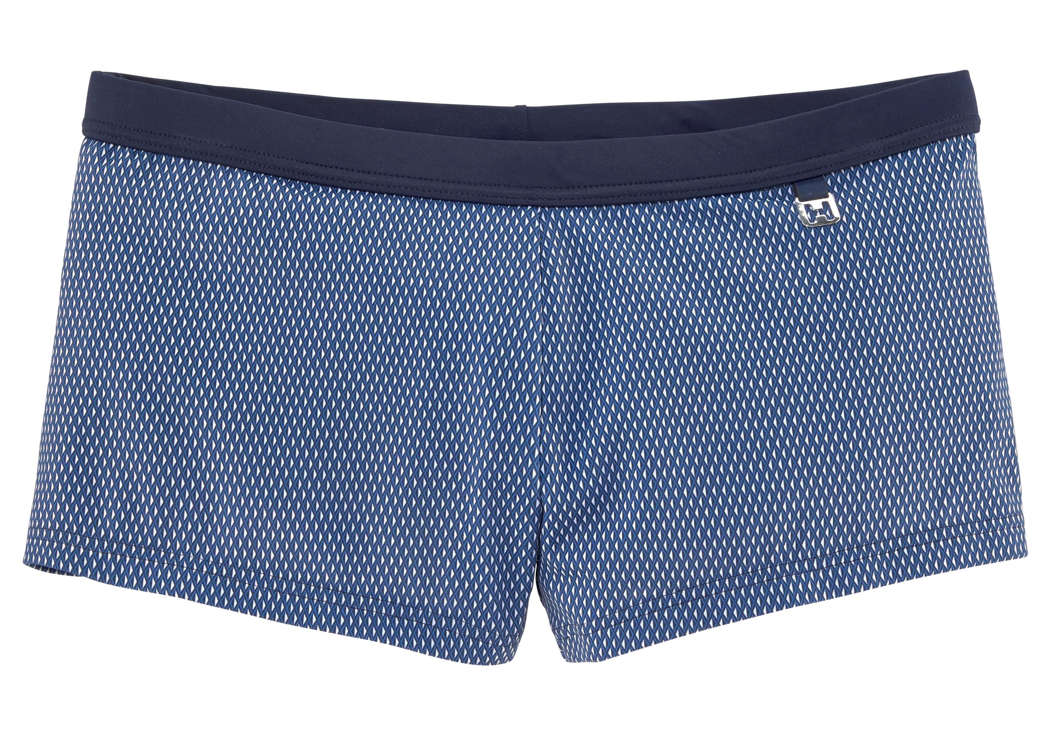 Hom Boxer-Badehose, im modischen Design blau Herren Badehosen Herrenbademode Boxer-Badehose