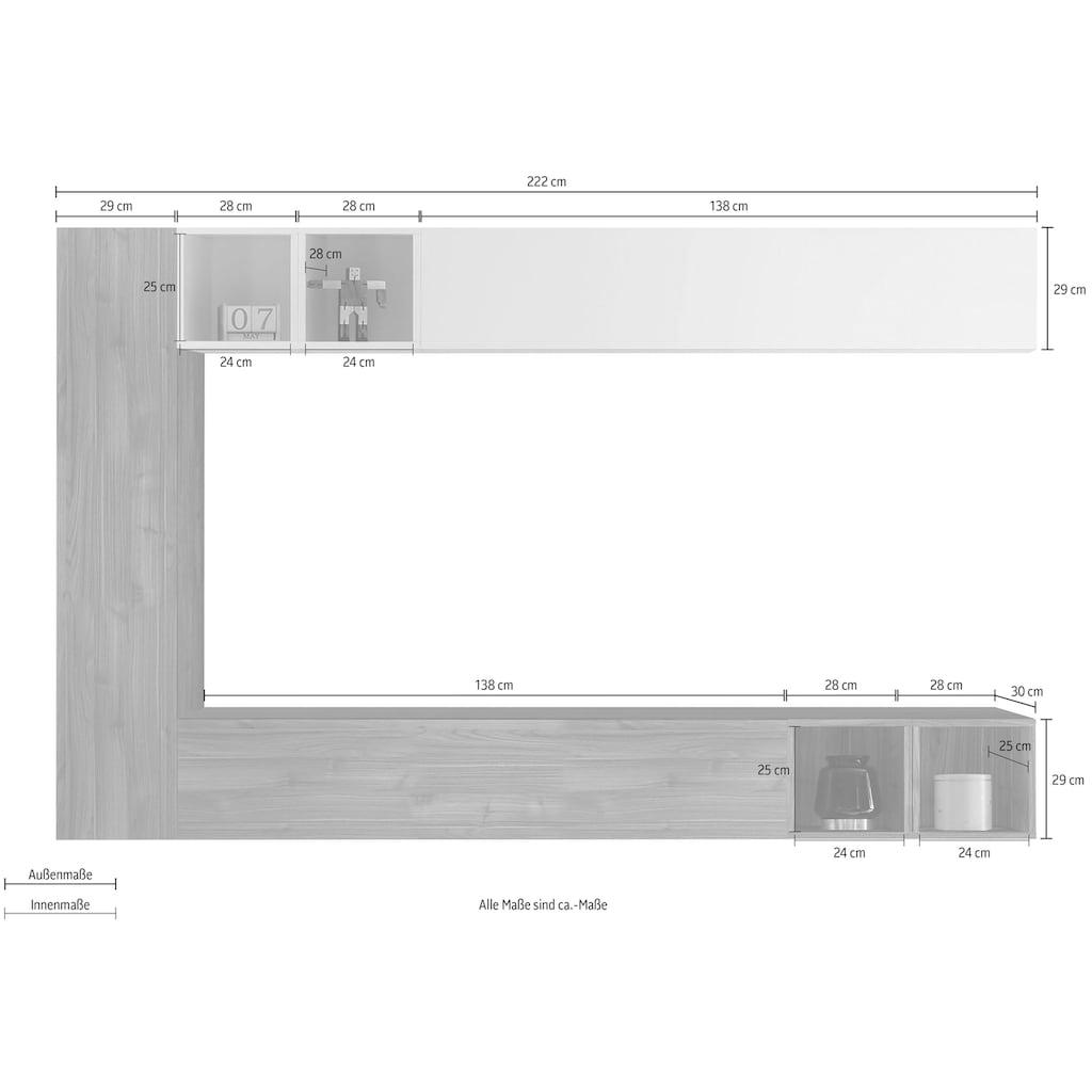 LC Wohnwand »Infinity«, (Set, 5 St.)