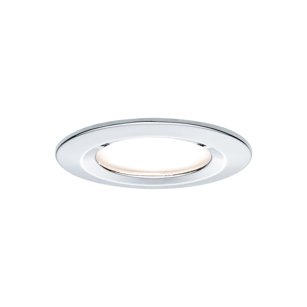 Paulmann LED Einbaustrahler »Nova rund 3x6,5W GU10 Chrom starr«, GU10