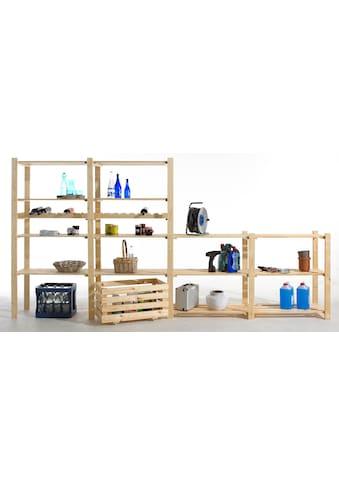 Anbauregal »Anbauregal mit 4 Böden, Holz-Allzweckregal«, B/T/H: 85x40x170 cm, mit 4 Böden kaufen