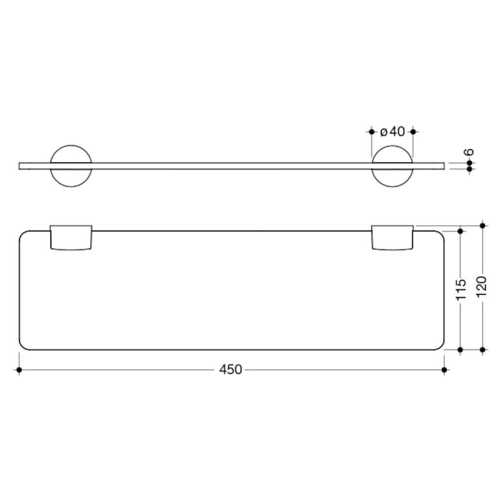 Wandregal »System 815«, (Set), 450 mm, Wandmontage