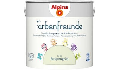 ALPINA Wand -  und Deckenfarbe »Farbenfreunde«, Raupengrün 2,5 l kaufen