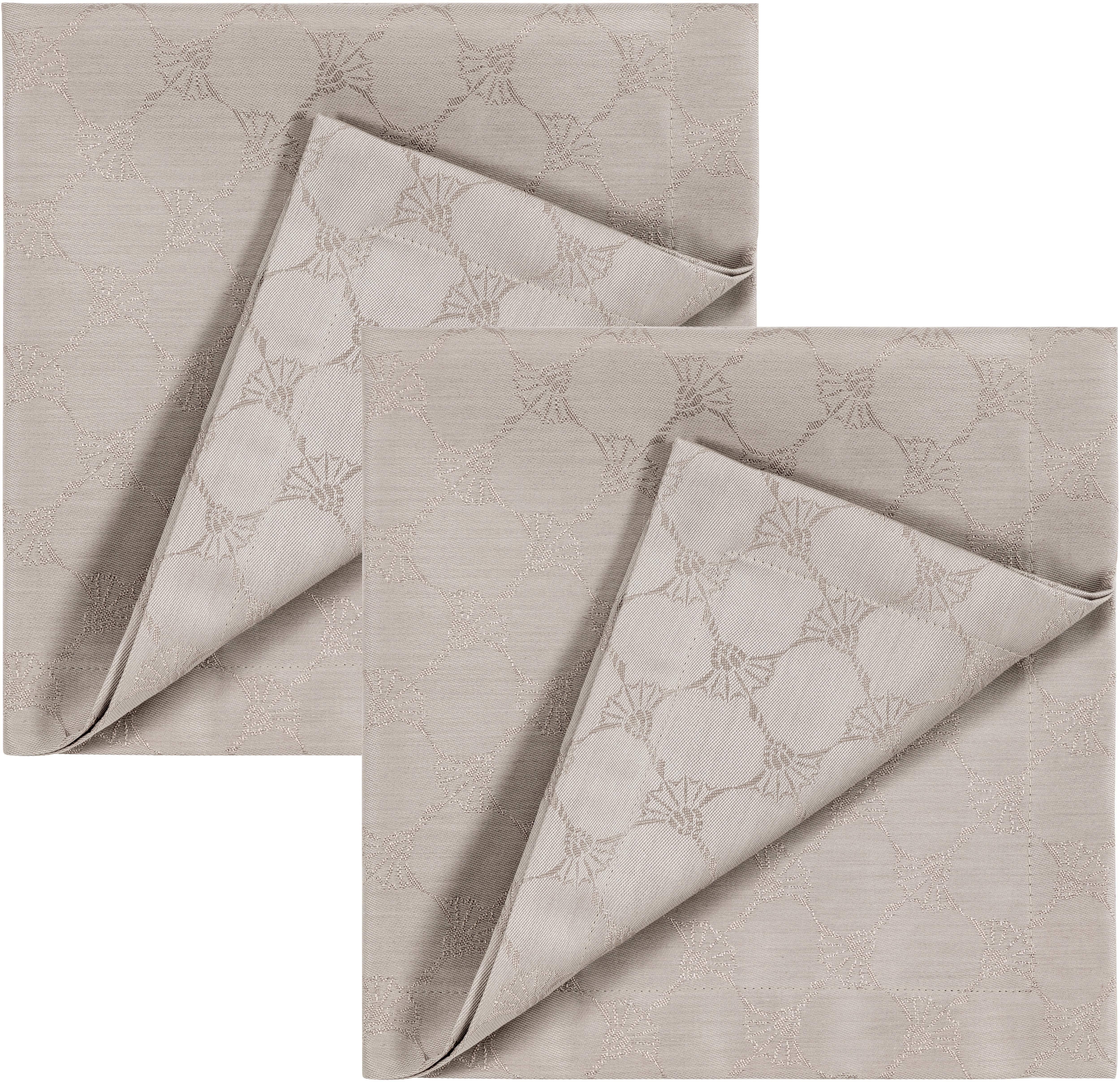 Joop! Joop Stoffserviette CORNFLOWER ALLOVER, (Set, 2 St.), Aus Jacquard-Gewebe gerfertigt mit Kornblumen-Allover-Muster beige Stoffservietten Tischwäsche