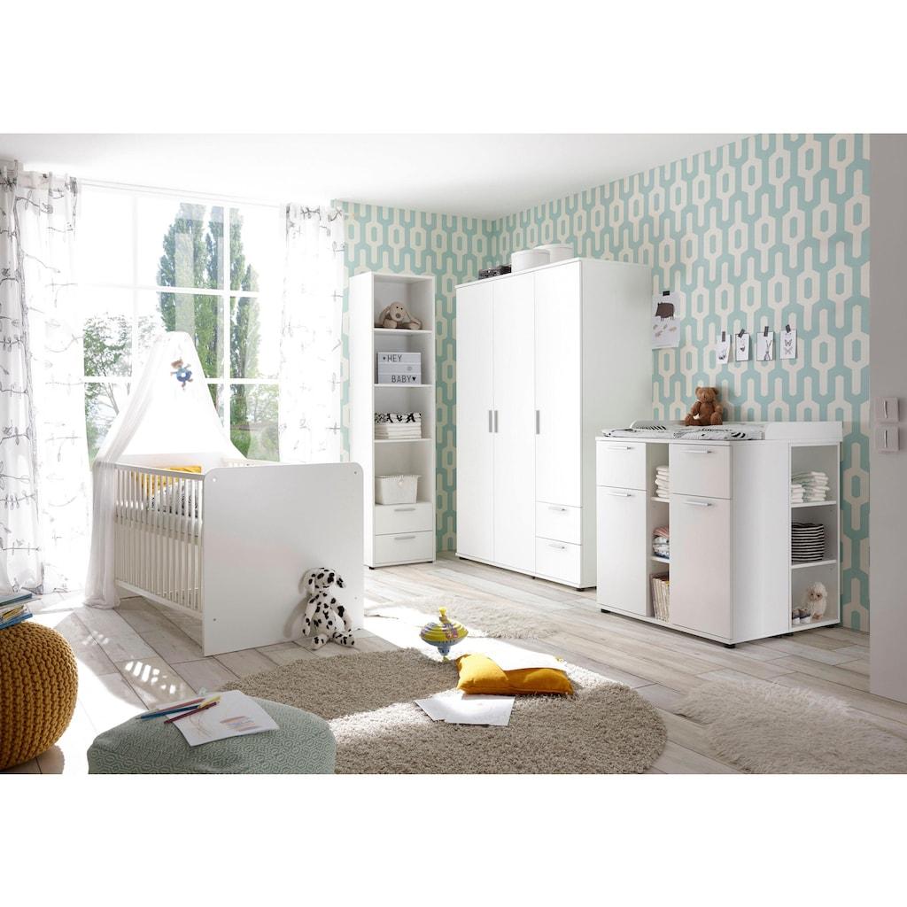 Begabino Babyzimmer-Komplettset »Bibo«, (Set, 3 St.), Bett + Wickelkommode + 3-trg. Schrank