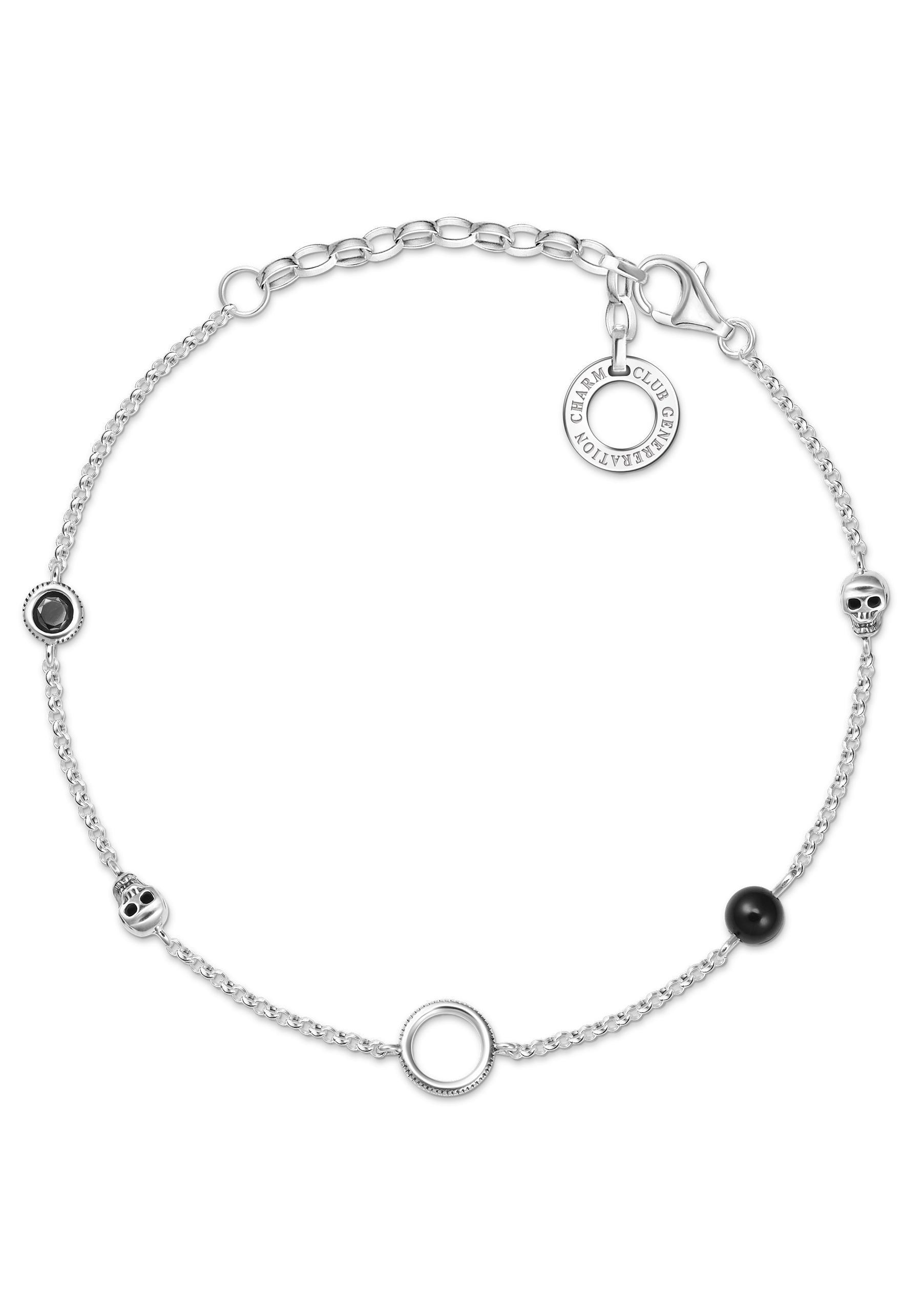 THOMAS SABO Charm-Armband Farbige Steine, X0275-641-11-L19v | Schmuck > Armbänder > Charm-Armbänder | Thomas Sabo