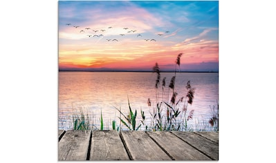Artland Glasbild »Der See in den Farben der Wolken« kaufen