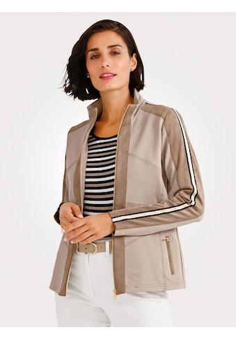 Mona Shirtjacke mit Veloursleder kaufen