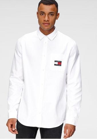 Tommy Jeans Langarmhemd »TJM BADGE TENCEL TWILL SHIRT« kaufen