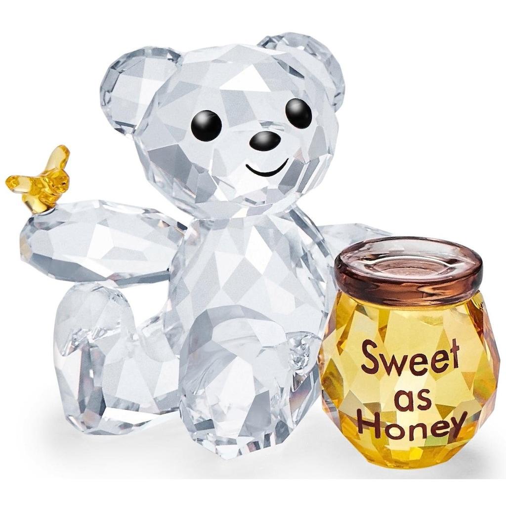 Swarovski Dekofigur »Kris Bär – Süß wie Honig, 5491970«, Swarovski® Kristall mit schwarzem Emaille