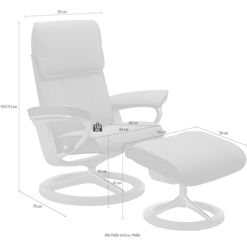 Stressless® Relaxsessel »Admiral«, mit Hocker, mit Signature Base, Größe M & L, Gestell Wenge