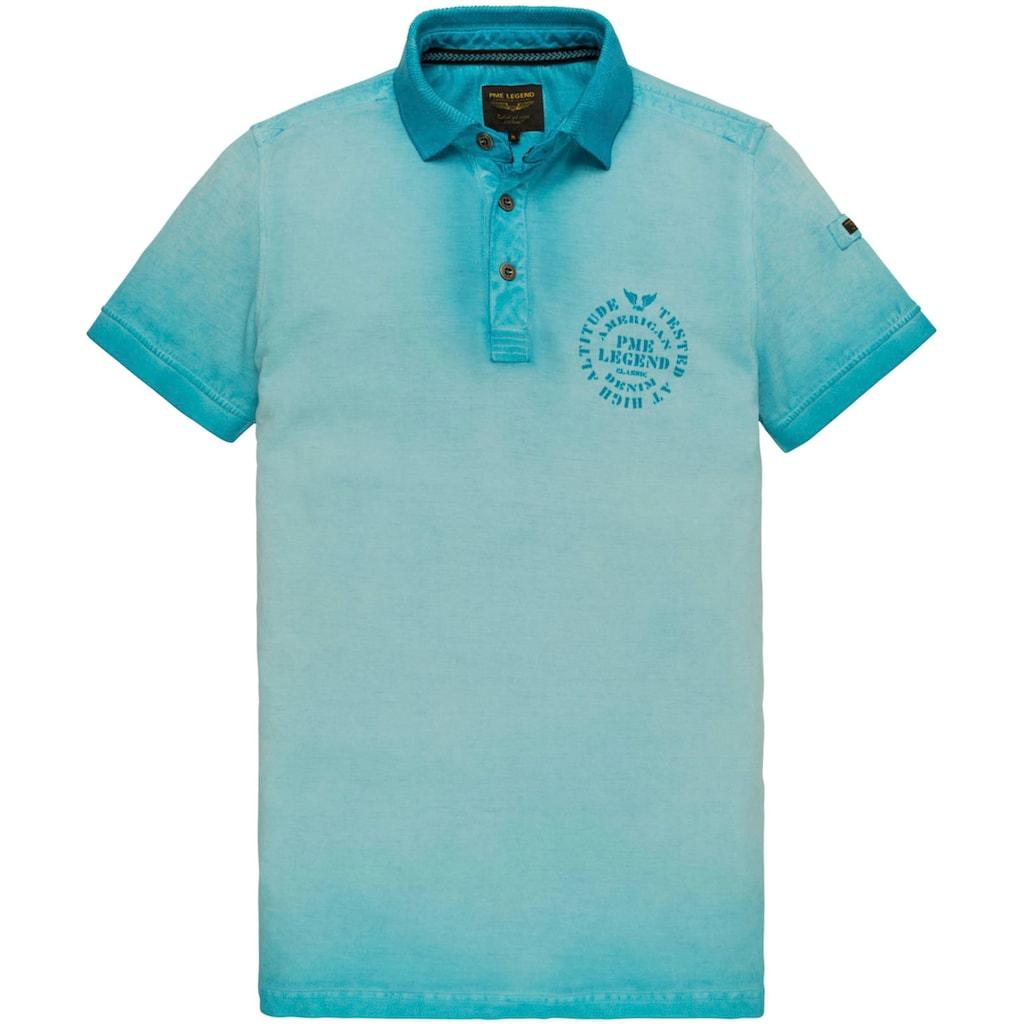 PME LEGEND Poloshirt, in modischer Oil-washed-Optik