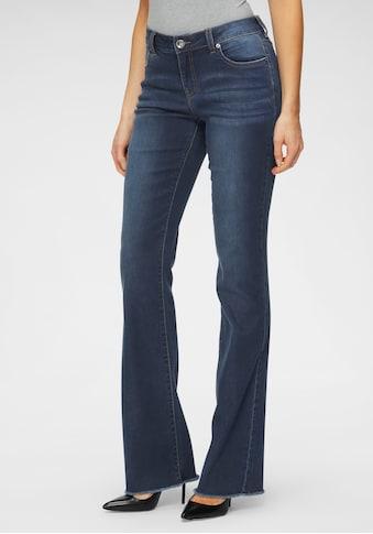 H.I.S Regular-fit-Jeans »Bootcut mit ausgefranstem Saum«, Nachhaltige, wassersparende Produktion durch OZON WASH kaufen