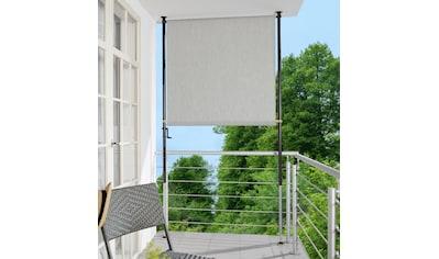Angerer Freizeitmöbel Klemm-Senkrechtmarkise, granitgrau, BxH: 120x225 cm kaufen
