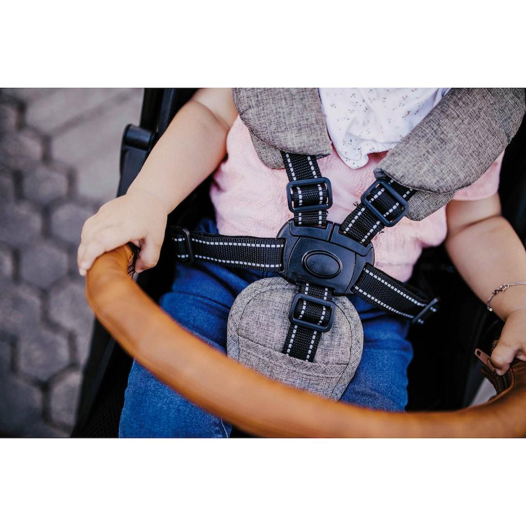 Gesslein Kinder-Buggy »Babies Smiloo Cuby, jeansblau-meliert«, mit Frontbügel; Kinderwagen, Buggy, Sportwagen, Sportbuggy, Kinderbuggy, Sport-Kinderwagen