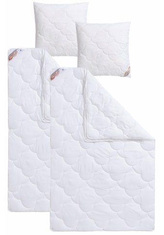Traumecht 4-Jahreszeitenbett + Kopfkissen »Mondschein Antibac«, (Spar-Set), mit... kaufen