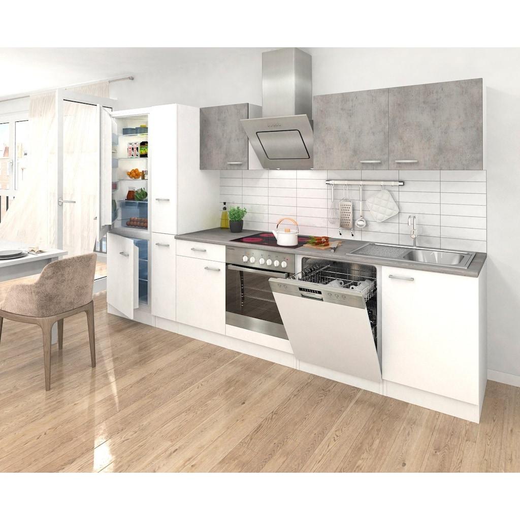 RESPEKTA Küchenzeile, mit E-Geräten, Breite 310 cm