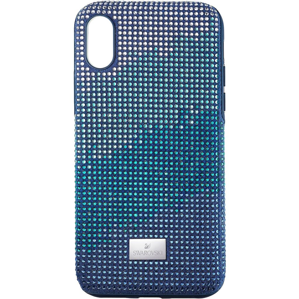 Swarovski Smartphone-Hülle »Crystalgram Smartphone Schutzhülle mit integriertem Stoßschutz, iPhone® X/XS, blau, 5532209«, iPhone X/XS, mit Swarovski® Kristallen