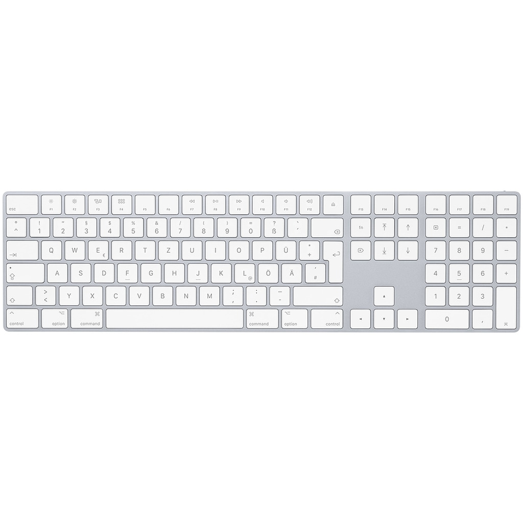 Apple Tastatur »Deutsch, Silber«, Magic Keyboard mit Ziffernblock