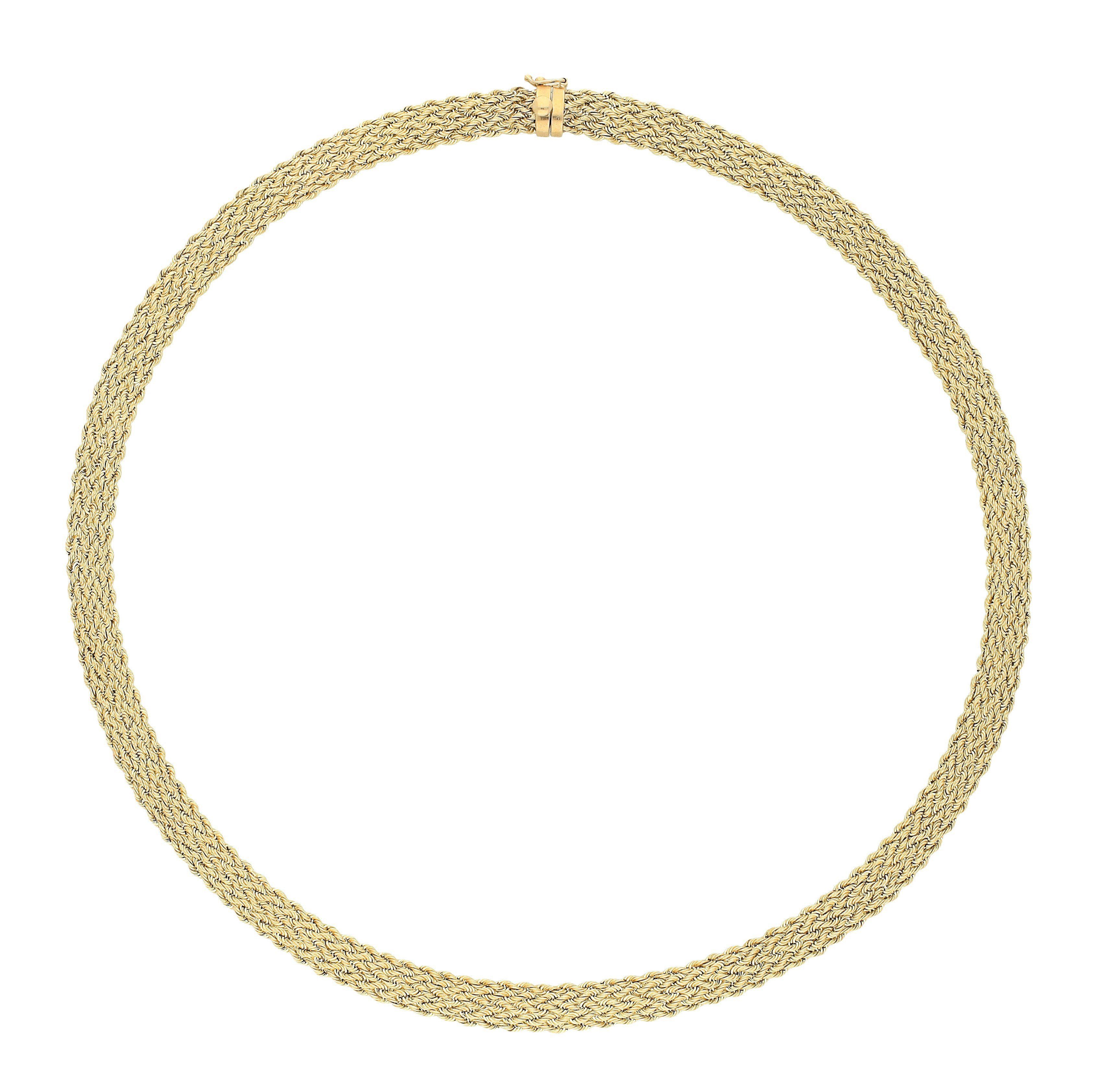 Vivance Kette ohne Anhänger Kordelstil | Schmuck > Halsketten > Ketten mit Anhänger | Goldfarben | Vivance