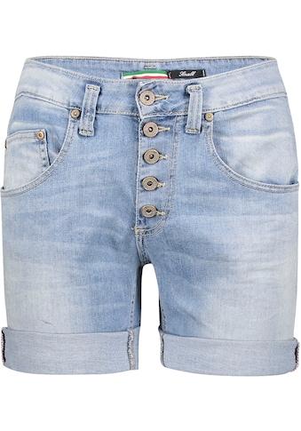 Please Jeans Jeansbermudas »P88A«, coole Jeansshorts mit dekorativer Knopfleiste und Eingrifftaschen kaufen