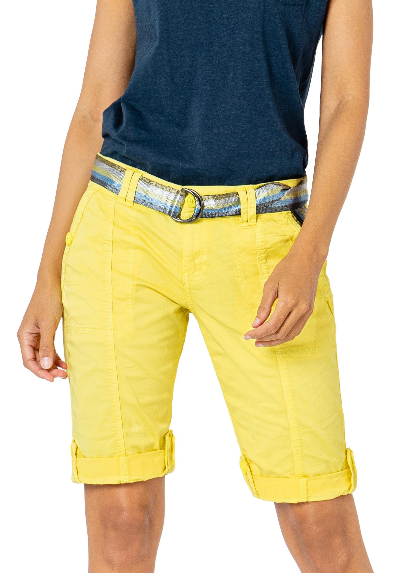 Fresh Made Bermudas, mit Gürtel gelb Damen Kurze Hosen Bermudas