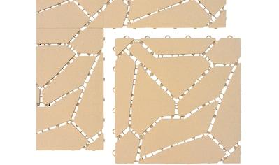 UPP Terrassenplatte 30x30 cm, Kunststoff in Natursteinoptik, 6 Platten (0,54m²) kaufen